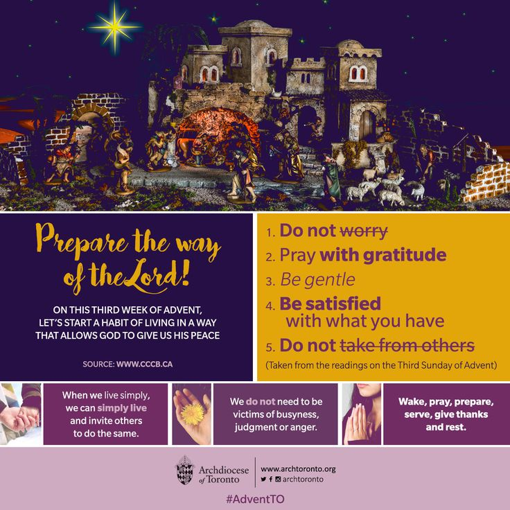 Third Sunday of Advent: Prepare the way of the Lord #advent #adventTO #christmas…