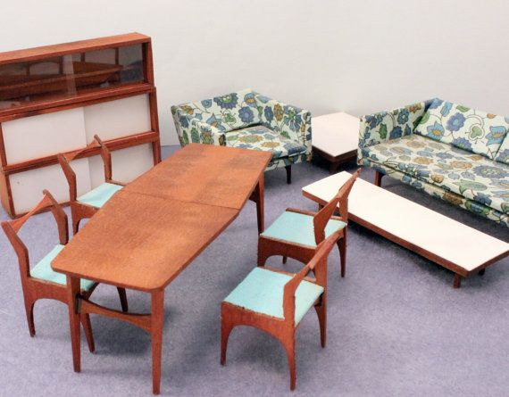 Modern Midcentury Dollhouse Furniture