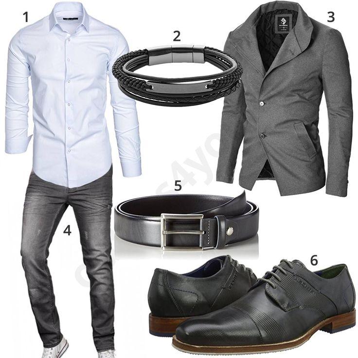 Eleganter Business-Style für Männer mit weißem AmaciSons Hemd, Fossil Lederar… – Magdalena Blautzik