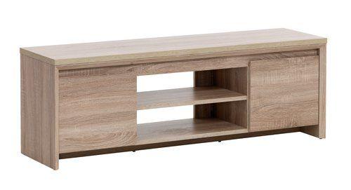 TV-asztal HALLUND 2 ajtós 1 polcos tölgy   JYSK