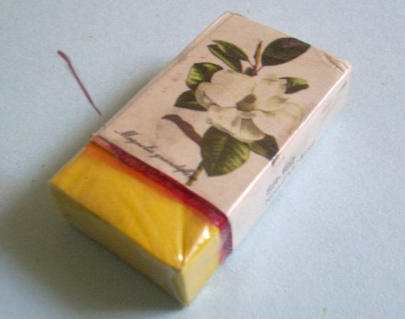 80s Liberty Eraser. Magnolia Sleeved Eraser. Yellow by JirjiMirji, €9.90