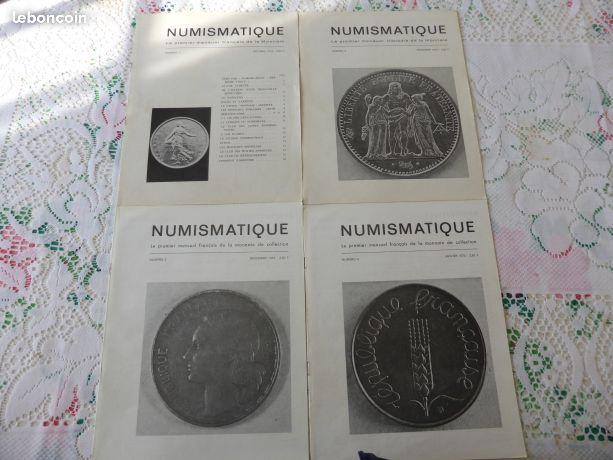 Les 4 premiers numeraux de numismatique et change