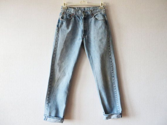 Levi Strauss Jeans 501 Light Blue Jeans by YourEclecticStreet