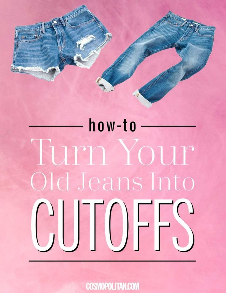 So when I set out to make cutoff shorts from an old pair of jeans, I wanted to find the simplest, quickest way to do it, and I think I did. Watch the video and follow the steps below to find out how to make your own.