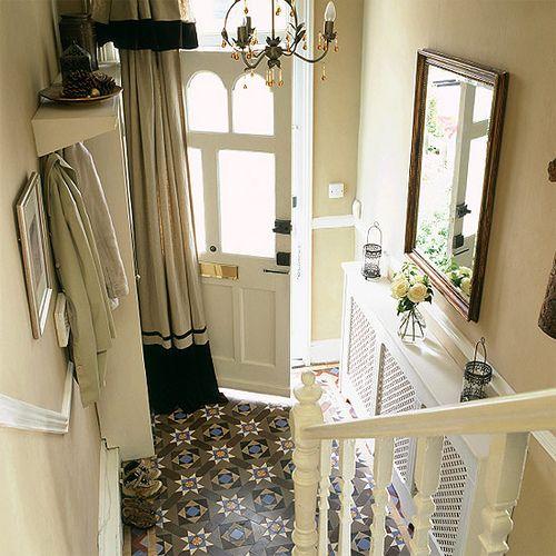 Beautiful entryway, love the floor.