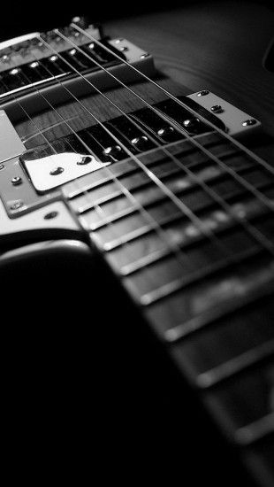 Gibson Guitar Black and White http://theiphonewalls.com/gibson-guitar-black-and-white/