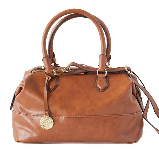 London Fog Cognac Satchel Handbag. SO pretty.