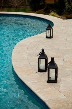 Travertine Pool Deck Design Ideas, Pictures, Remodel and Decor