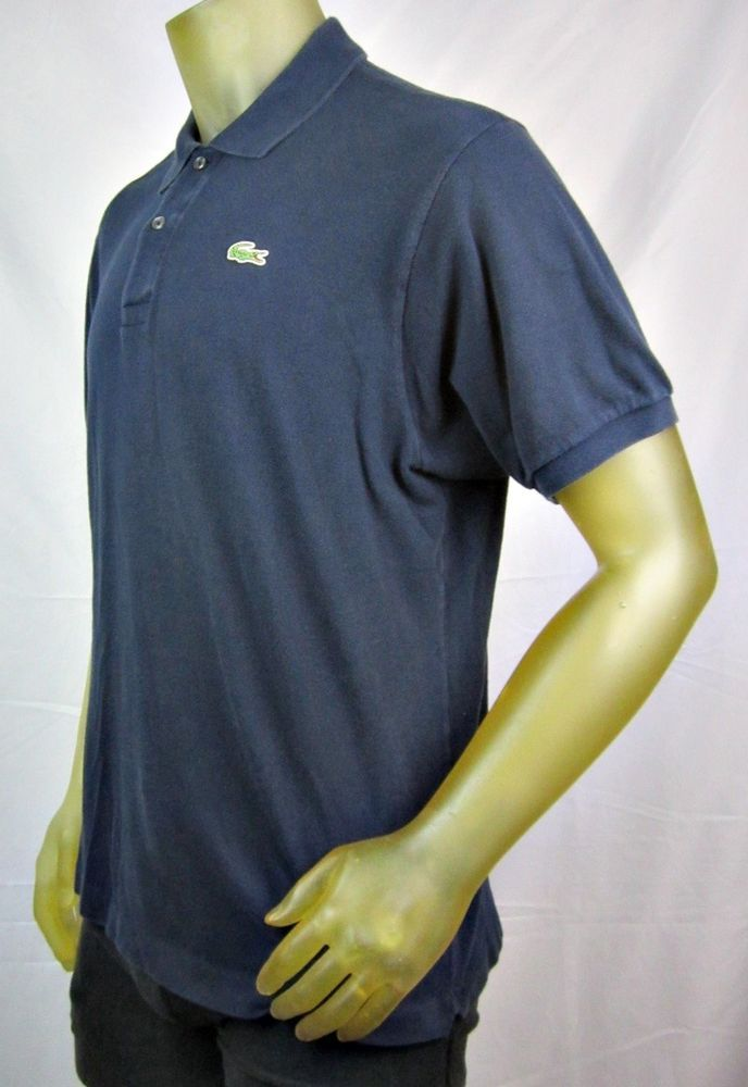 07c614f6 Lacoste Mens Navy Blue Classic Fit Short Sleeve Polo Shirt Size 7 XL # Lacoste