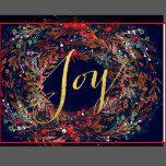 Wonderful JOY WREATH FLORAL Holiday Postage Stamps