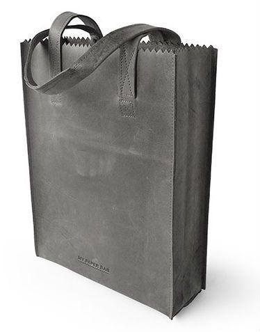 My bag - I love it! • Myomy my paper bag black. Made of fair trade buffalo leather