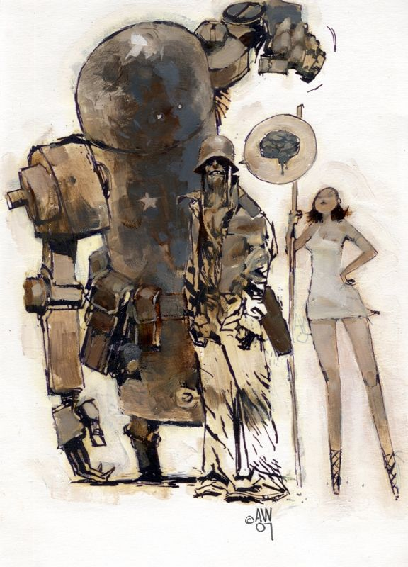 Ashley Wood | Robots vs. Zombies vs. Amazons