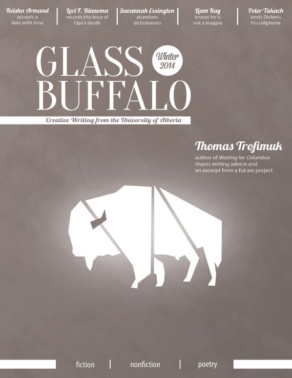 Meet the experts: Green Drinks Edmonton celebrates local literature (2 April 2014) | The Local Good | Photo: Glass Buffalo's Winter 2014 cover, with permission. | #yegbooks #greendrinksyeg