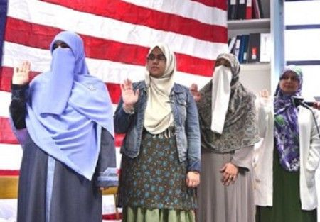 Obama Changes 'Oath Of Allegiance' To Accommodate New (Islamic) Americans, Takes Out Pledge To Defend The USA!! WHAT!? When did there start being different requirements for citizenship for certain segments of the population, particularly those who seem to be at war with American ideals! If they can't take the oath, why should they even WANT to become citizens for any positive reason?
