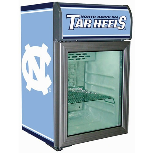 Tennessee Vols Man Cave Ideas : North carolina tarheels refrigerated glass door cooler