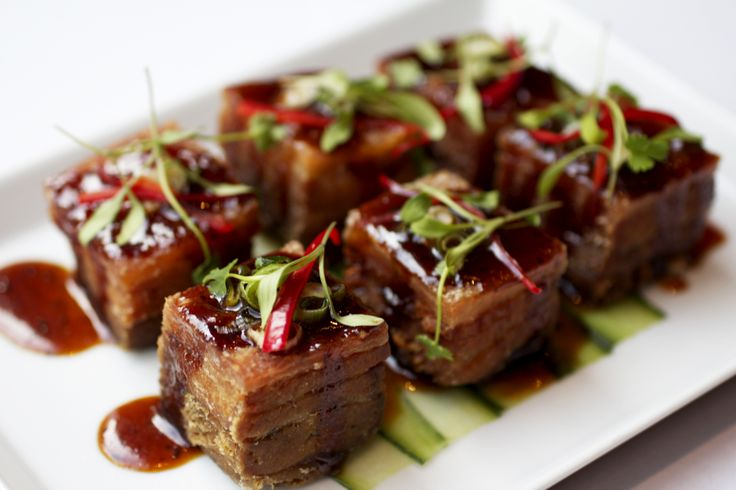 Asian braised pork belly - Catch Champagne Bar & Lounge. Enjoyed at Andaz Liverpool Street in London.