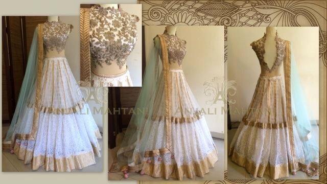 Anjali mahtani couture bridal lengha golden