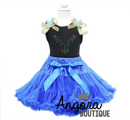 Anna Frozen Pettiskirt Tutu and Top Birthday by AngoraBoutique, $70.00