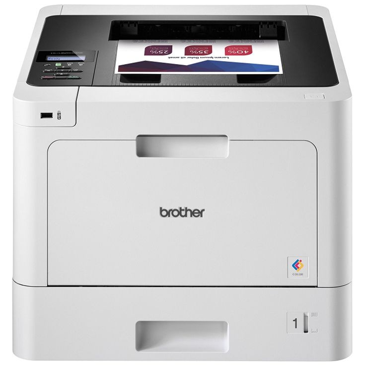 The Brother color laser printer offers above average