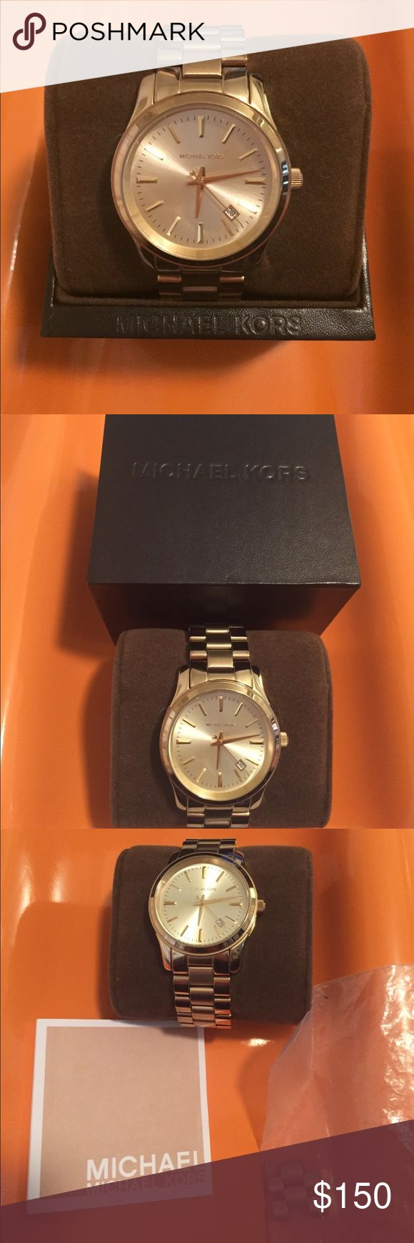 Michael Kors 3 Hand Runway Watch MK5160 EUC! Very good condition. Some scratches. Links were removed but will include. Needs new battery. Michael Kors Accessories Watches