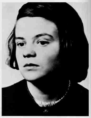 Sophie Scholl, one of the leaders of the White Rose, a resistance movement in Nazi Germany. She was tried and convicted of treason.  She was sentenced to death for distributing pamphlets at her university.  The German soldier who led her to her execution said he'd never seen anyone go more calmly to their death. She was 21.