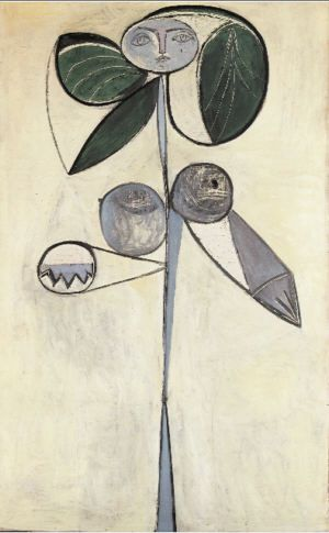 Picasso, femme-fleur, 1946