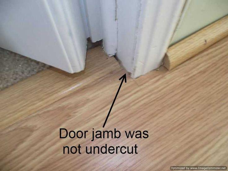 Installing Laminate Flooring, Where To Stop Laminate Flooring In A Doorway