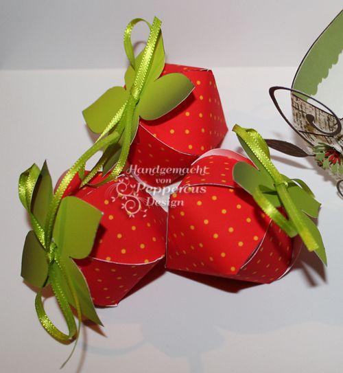 FreeJPF print and cut printable strawberry box Freebie Vorlagen/Templates - Peppercus-Design