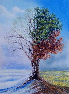 """Saatchi Online Artist Stanza Widen; Painting, """"A Year in the Tree of Life """" #art"""