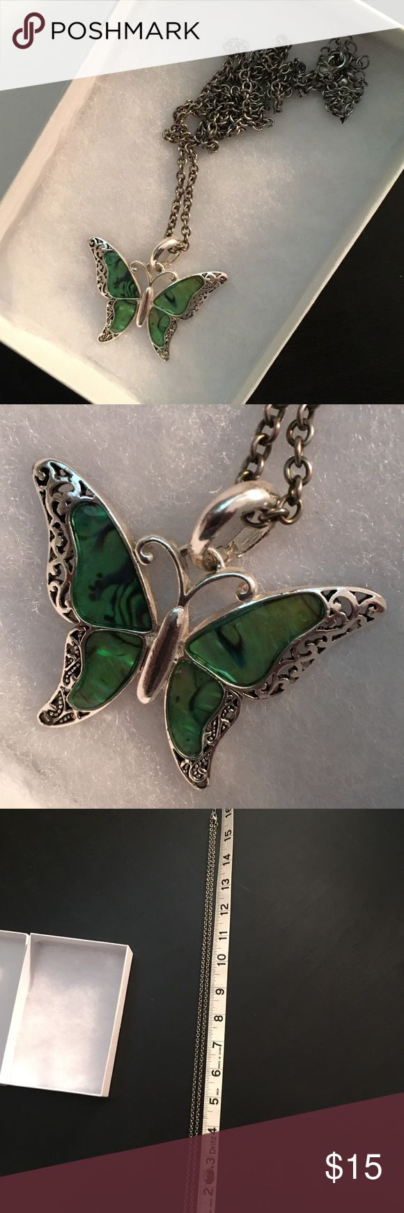 """Butterfly 🦋 Necklace Butterfly Necklace  Chain length approximately 16"""" with 3.5"""" extender Jewelry Necklaces"""