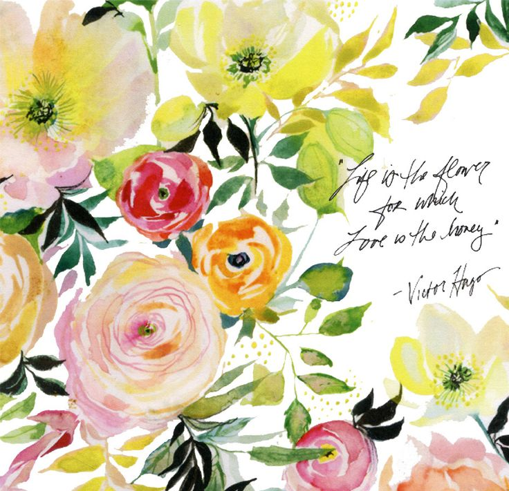 Watercolor Calligraphy Florals Whimsical