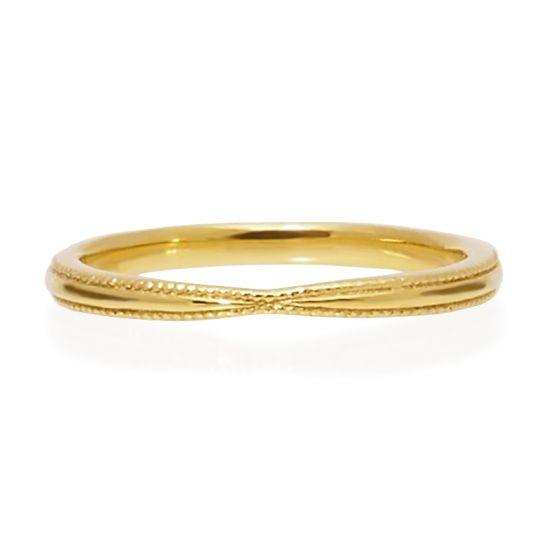 "Hatae jewelry ""Cloe"" K18YG - Marriage  Ring - Wedding Band Women"