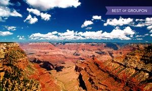 Groupon - $ 94 for a Full-Day Bus Tour of the Grand Canyon's South Rim from Grand Canyon Tour & Travel ($179.99 Value) in Grand Canyon Tour & Travel. Groupon deal price: $94