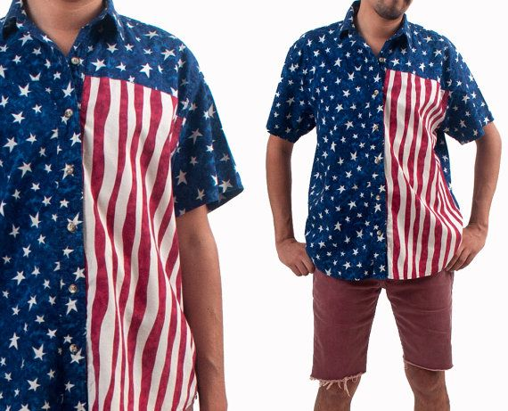 4th of july button down shirts