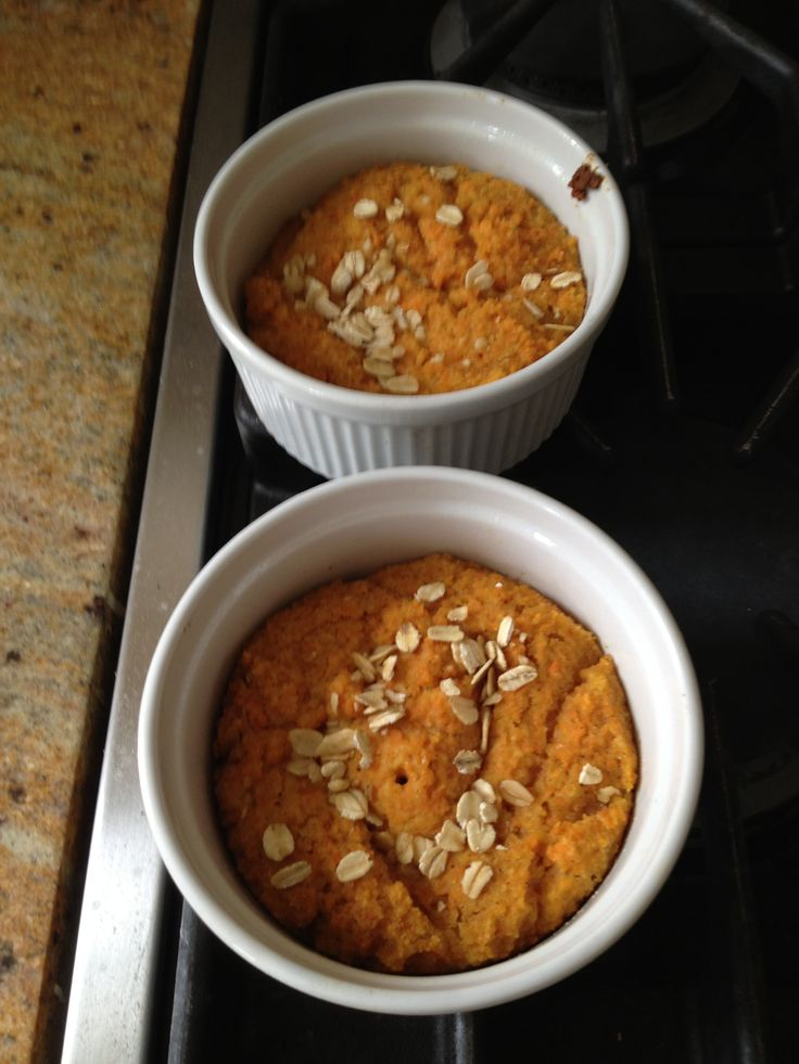 CARROT CAKE (for phase 1 use egg white, for phase 3 use whole egg) In food processessor, grate 1 large carrot and 3 spears of pineapple. Add 1 egg (white or whole) 1 tsp vanilla, 1 tbsp mixed spices such as cinnamon, nutmeg and allspice, 1 tsp baking powder and 1/2 cup rice flour. (for phase 3 you can add a 1/4 cup nuts). Blend. Spoon into 2 ramekins. Bake at 350 for 20 minutes or until a toothpick inserted in the center comes out clean.