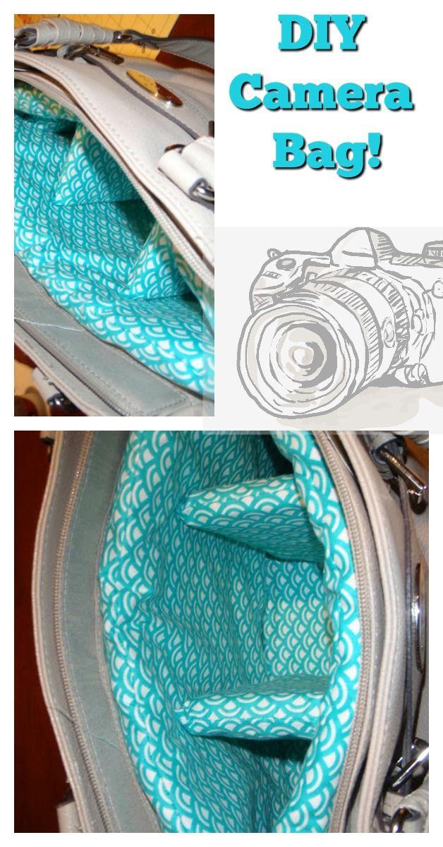 DIY padded purse camera bag! Super cute and budget friendly!