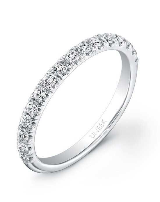 Uneek Fine Jewelry UWB011 White Gold Wedding Ring
