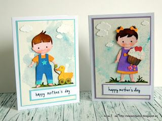 Anja's card using Baby Doll & Baby Doll Boy & Girl Clothes dies