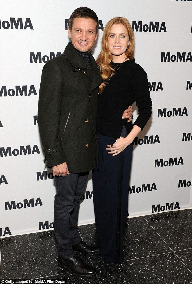 Was it planned? It seems Amy Adams and Jeremy Renner both opted for military-inspired outfits for a screening of their new film Arrival at the New York Museum of Modern Art on Thursday