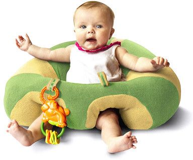 Gifts for Babies and Toddlers ~ I've had the Bumbo chair.  I've had the Boppy.  But this Hugaboo Support Seat looks like the best of both worlds.  Stable AND super soft.  This would make a great gift for a baby (who doesn't care about toys) or for a new mom.