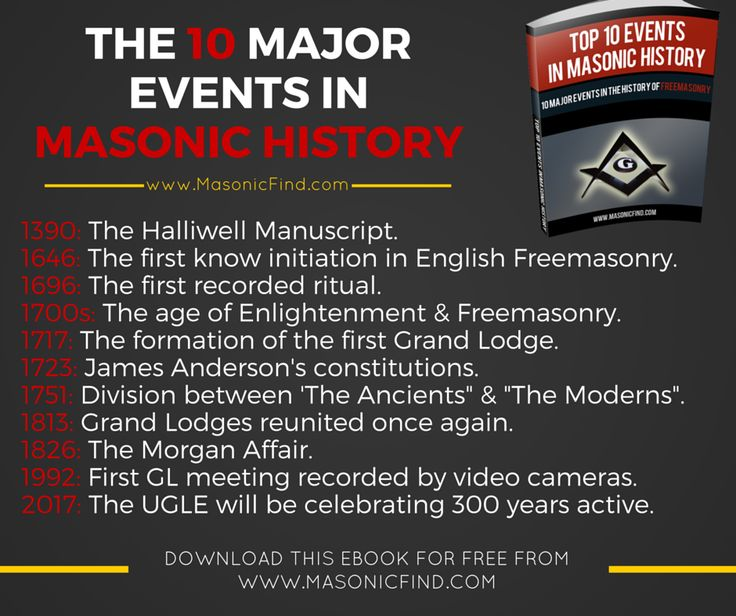 48 best masons images on pinterest freemasonry eastern star and in this short free ebook we illustrate the top 10 major events in masonic history that has changed freemasonry as we know it throughout its glorious fandeluxe Images