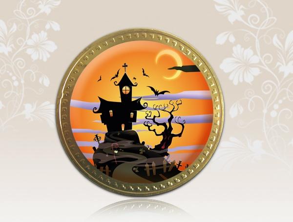 Recuerdo en moneda de chocolate (grande)
