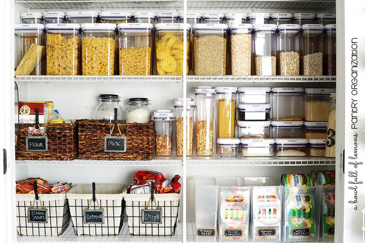Damn those OXO Pop containers are good looking! Pantry Organization via A Bowl Full of Lemons