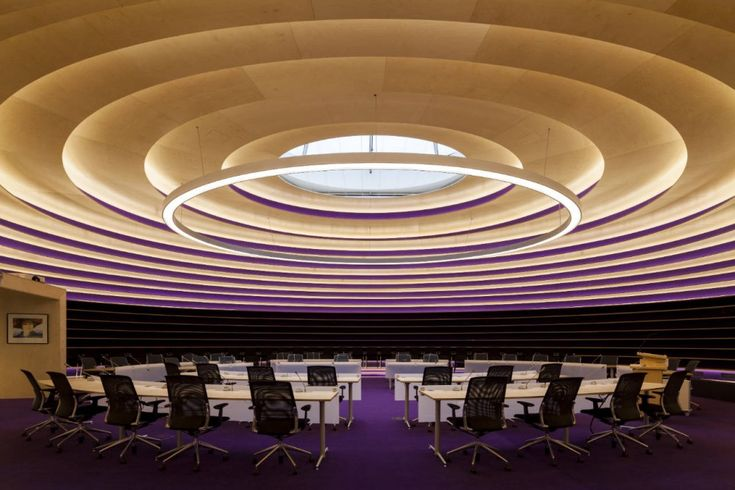 City Council room of the Town Hall in Nieuwegein, The Netherlands by 3XN Architects