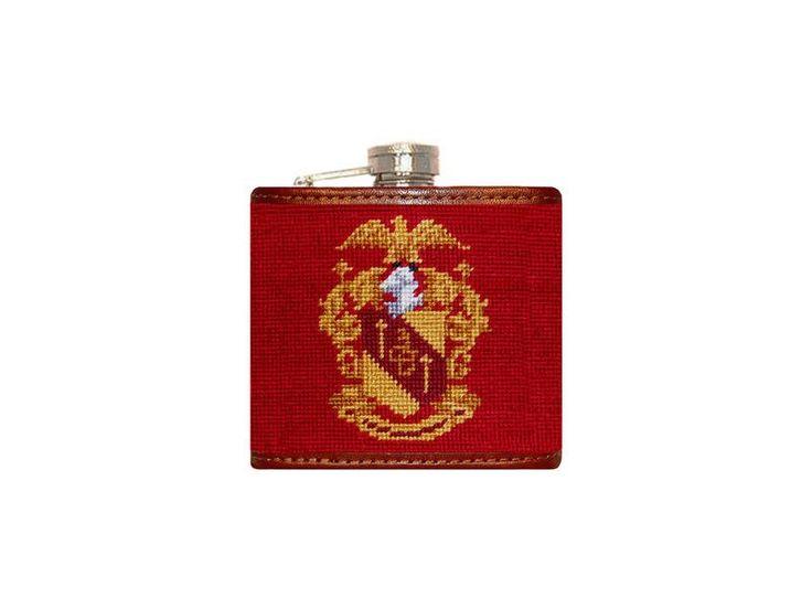 Theta Chi Needlepoint Flask
