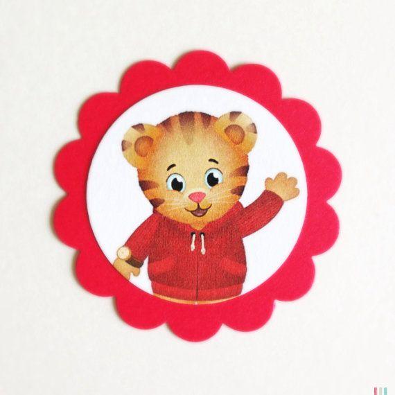 DANIEL TIGER NEIGHBORHOOD Gift Tags/Cupcake Toppers di PNWpaper, $4.50