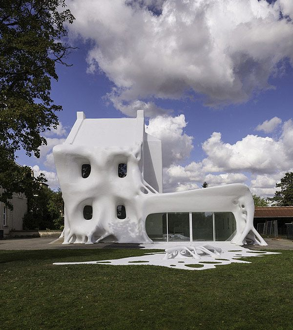 The Ghost house by French artists Christophe Berdaguer and Marie Péjus