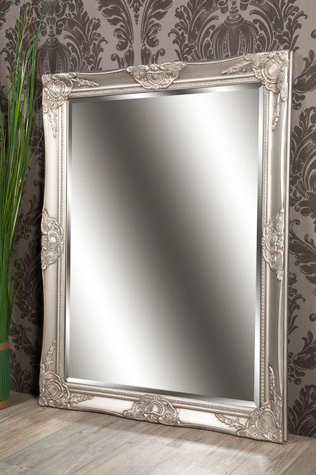 Details Zu Spiegel Wandspiegel Celia Antik Silber Barock 70 X 90 Cm