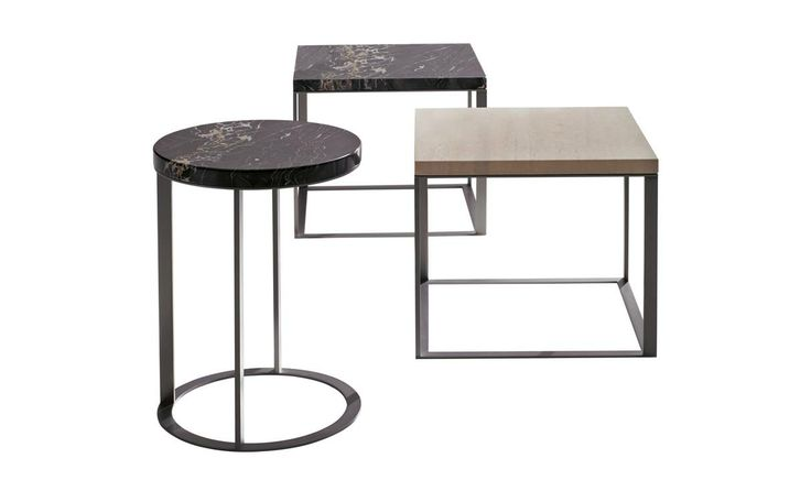 Small tables: LITHOS – Collection: Maxalto – Design: Antonio Citterio