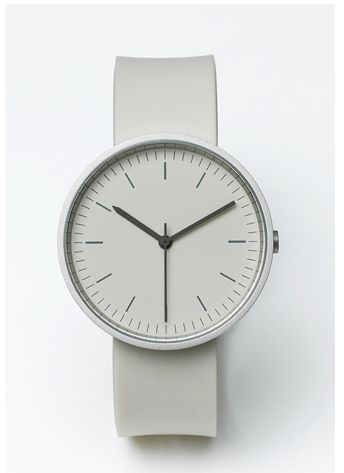 A big white watch. Analog forever.